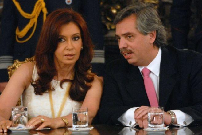 Alberto Fernández y Cristina