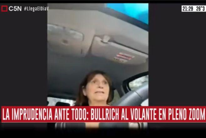 Minuto Uno: Bullrich al volante en pleno Zoom