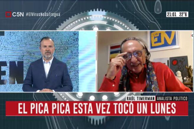 """Minuto Uno: El """"pica pica"""" con Raúl Timerman con Gustavo Sylvestre"""