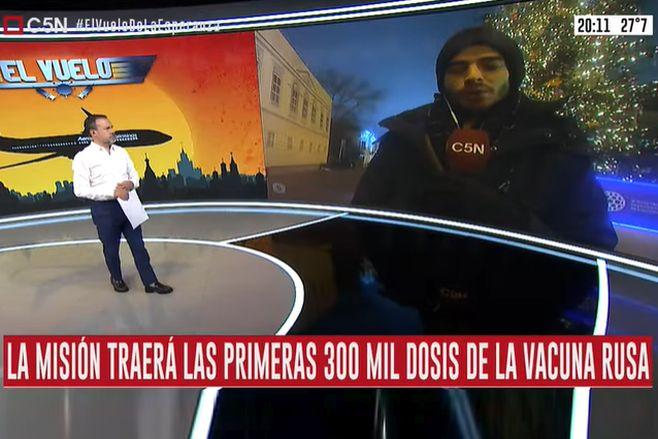 La misión argentina que traerá las primeras 300 mil dosis ya está en marcha