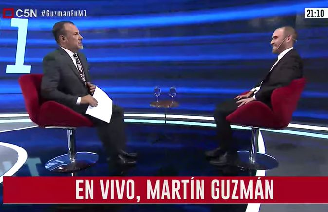 Entrevista a Martín Guzmán en Minuto Uno (parte 1)