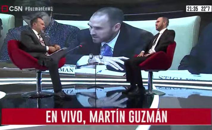 Entrevista al ministro de Economía Martín Guzmán en Minuto Uno (parte 2)