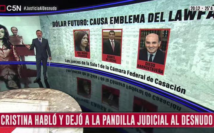Minuto Uno: Cristina habló y dejó a la pandilla judicial al desnudo